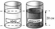Тест по физике Расчет давления жидкости 3 задание