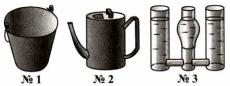 Тест по физике Сообщающиеся сосуды 2 задание