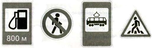 Тест по окружающему миру Дорожные знаки 3 класс задание С1