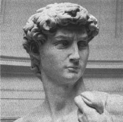 фрагмент статуи Микеланджело Давид