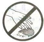 Знак Не лови и не уноси зверей домой