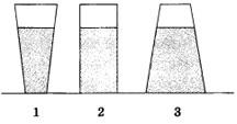 сосуды различной формы, в которые налита одинаковая жидкость 2 вариант