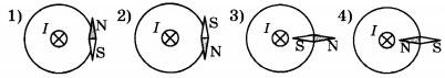 показан проводник с током, направление которого перпендикулярно плоскости чертежа 2 вариант