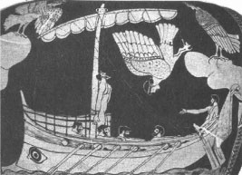 Древнегреческий герой на рисунке