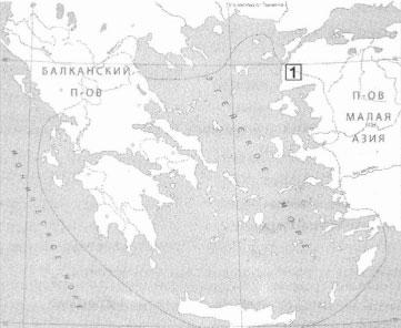 Город на контурной карте