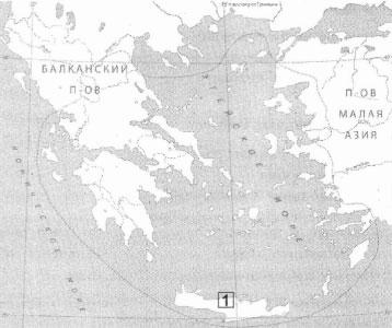 Остров на контурной карте
