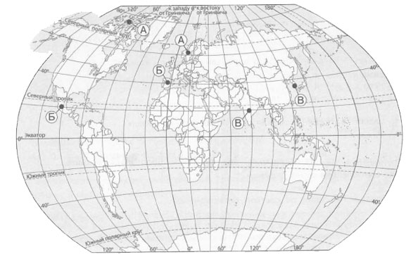 Точки на карте 1 вариант
